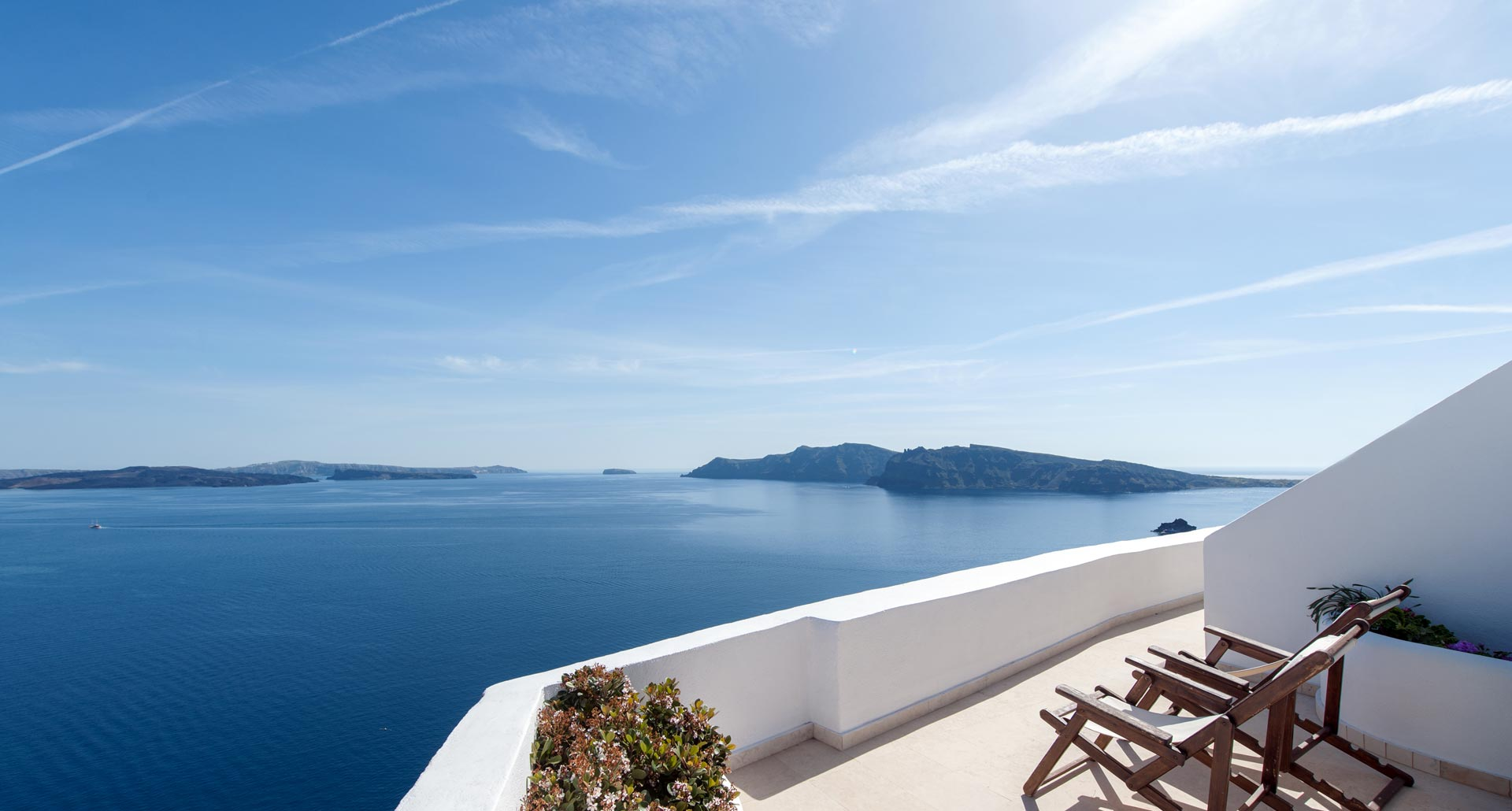 Strogili Apartments Santorini – Sea view from the veranda